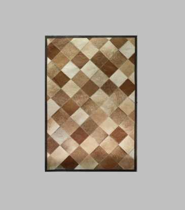 Hairon Rug Brown Diamond 48 x 78""