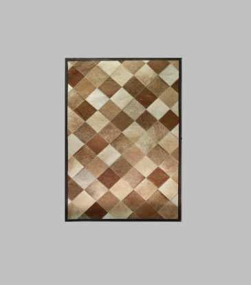 Hairon Rug Brown Diamond 36 x 72""