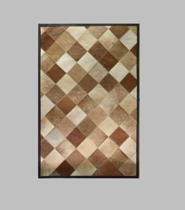 Hairon Rug Brown Diamond 60 x 84""