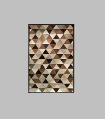 "Hairon Rug Black & Brown Prism 36 x 72"""