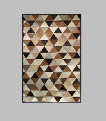"Hairon Rug Black & Brown Prism 60 x 84"""