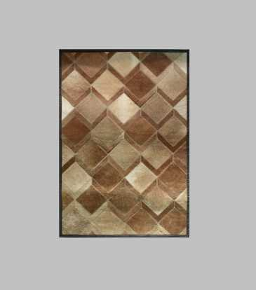 Hairon Rug Brown Interlock 48 x 78""