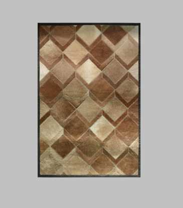 Hairon Rug Brown Interlock 60 x 84""