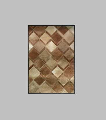 Hairon Rug Brown Interlock 36 x 72""