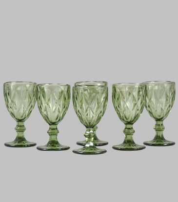 Goblets Green Set of 6