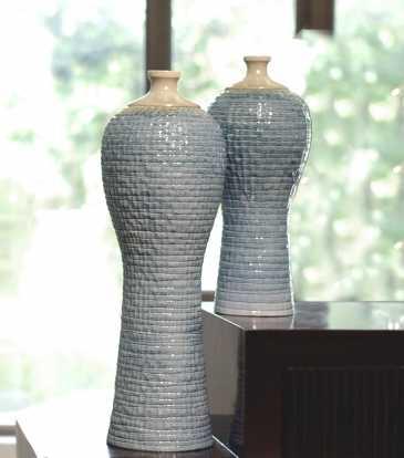 Serene Glazed Vase Small