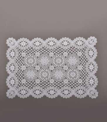 Crochet Placemat White s/12