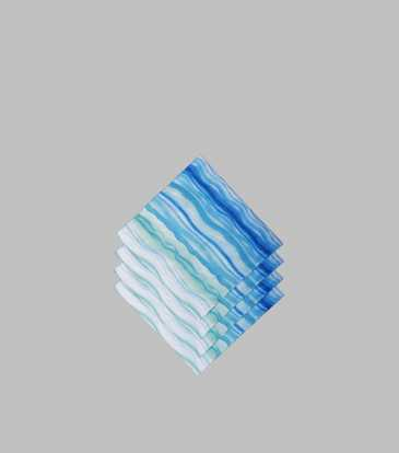Blue Waves Paper Napkins Small S/20