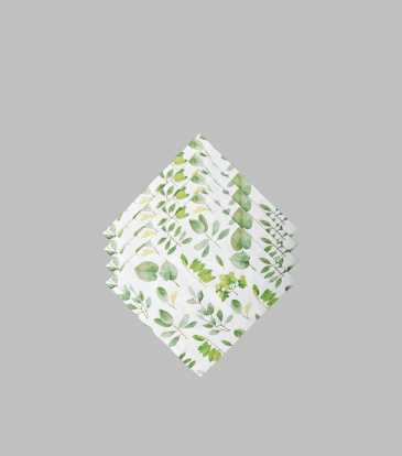 Fresh Leaves Paper Napkins Small S/20