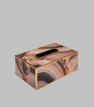 Reza Tissue Box Brown