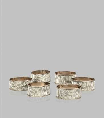 Silver Napkin Ring Set of 6
