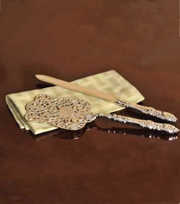 Heritage cake server and knife set