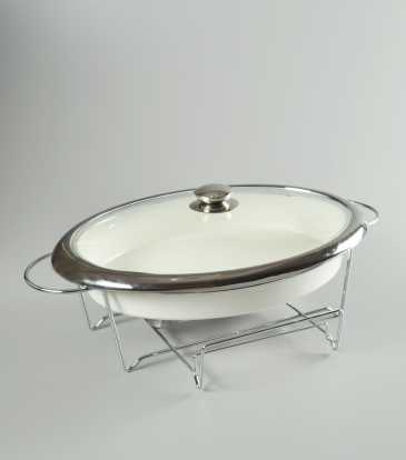 Casa cuisine casserole with warmer oval large