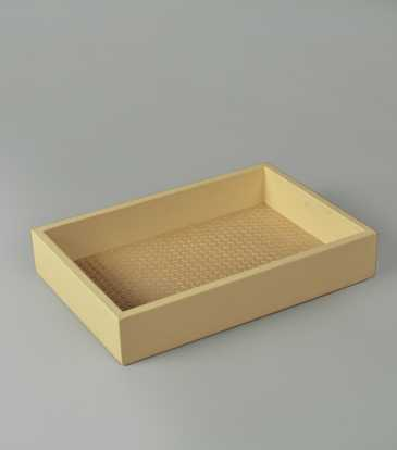 Woven Rectangular Tray small
