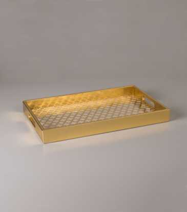 Moroccan Rectangular Tray Gold