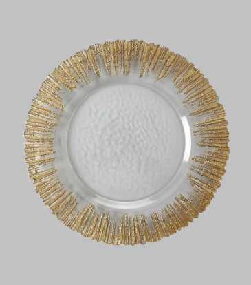 Atlas Charger Plate Gold