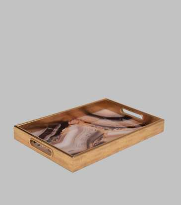 Reza Brown Tray Large