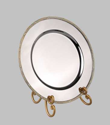 Victorian Charger Plate Gold boarder