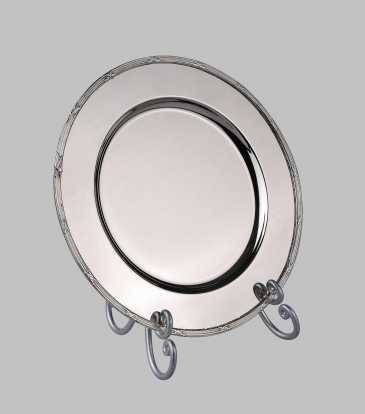 Victorian Charger Plate Nickel boarder