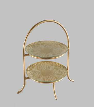 La Perla 2 tier gold small