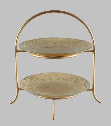 La Perla 2 tier gold large