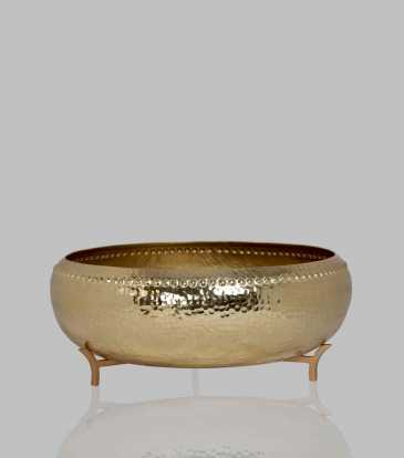 Hammered Urly Gold Large