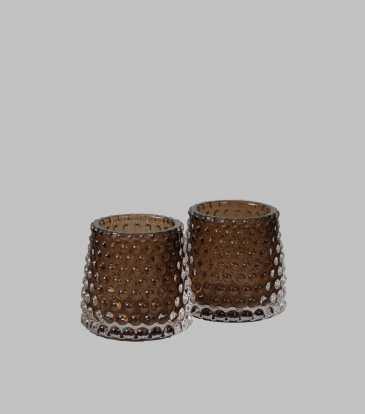 Chiaro votive Brown set of 2