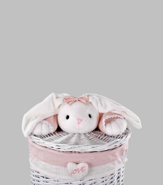 Bunny Bamboo Basket Large