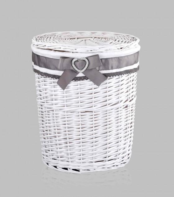 Ricrac Round Bamboo Basket