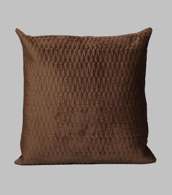 Turkish Velvet Cushion Choco Brown