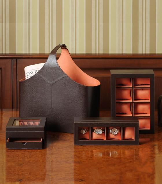 Gentleman watch box for 4 watches