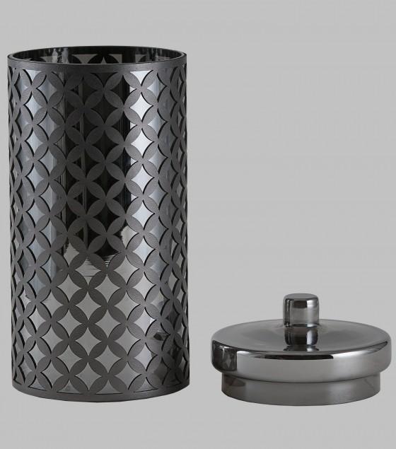 Nova Glass Jar with fretwork Large