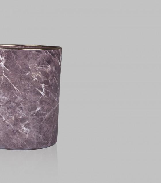 Marble Wax Votive Set of 2