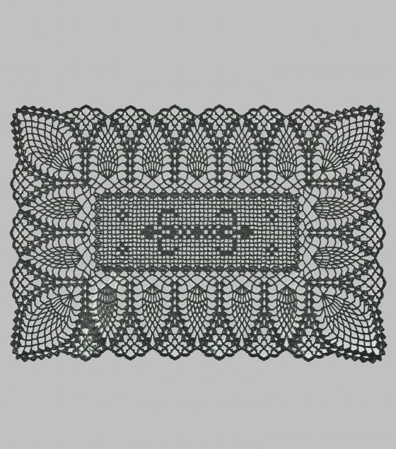 Crochet Placemat Grey S/12