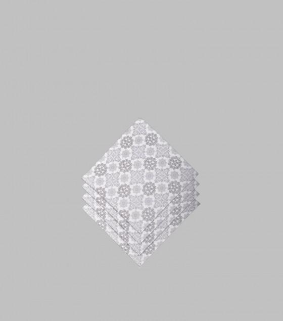 Ornamental Silver Paper Napkins Small S/20