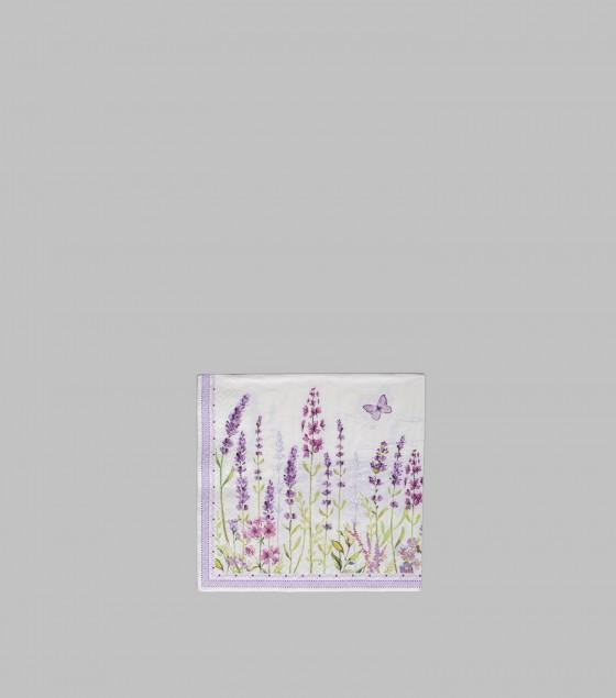 Lavender Field Paper Napkins S/20