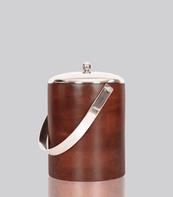 Walnut ice bucket
