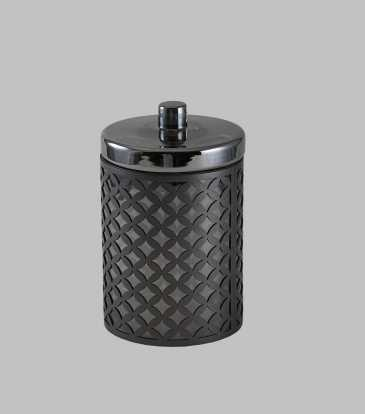 Nova Glass Jar with fretwork Small