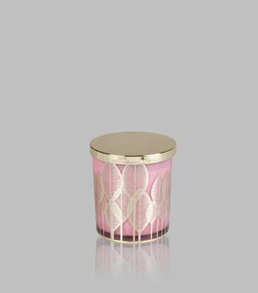 Leaf Wax Jar Pink Medium